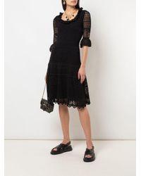 Кружевное Платье Alexander McQueen, цвет: Black