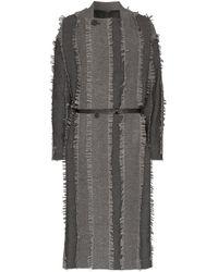 Gabardina a paneles con borlas Issey Miyake de hombre de color Gray