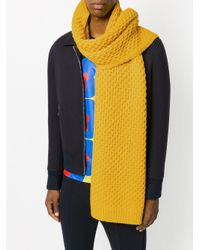 Calvin Klein - Yellow Chunky Knit Scarf for Men - Lyst