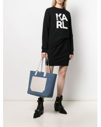 Karl Lagerfeld Journey ハンドバッグ Blue