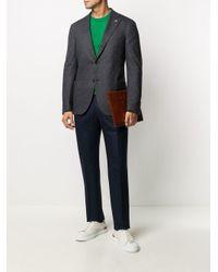 Пиджак С Узором В Елочку Lardini для него, цвет: Gray