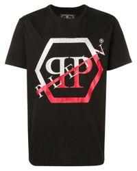 メンズ Philipp Plein Statement Tシャツ Black