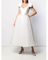 Robe évasée à design sans manches Parlor en coloris White