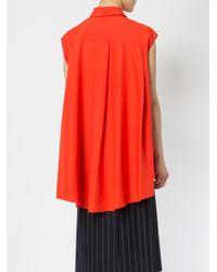 Juun.J Red Oversized Sleeveless Shirt
