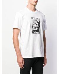 T-shirt con stampa di Supreme in White da Uomo