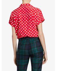 Burberry - Red Polka Dot Short Sleeved Shirt - Lyst