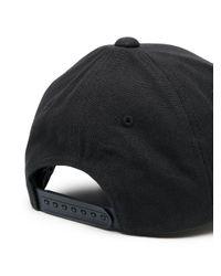Gorra con parche del logo EA7 de hombre de color Black