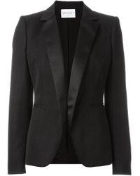 Vionnet | Black Silk-Blend Tuxedo Blazer | Lyst
