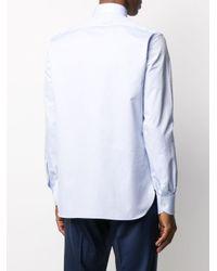 Рубашка Кроя Слим Ermenegildo Zegna для него, цвет: Blue