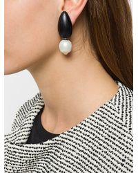 Monies Black Drop Earrings