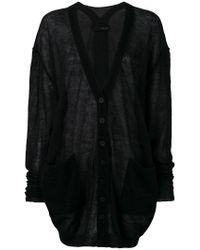 Cardigan oversize en maille fine Isabel Benenato en coloris Black
