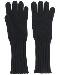 Cruciani - Black Knitted Gloves - Lyst