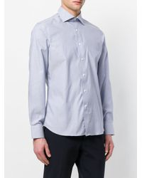 Canali - Blue Printed Shirt for Men - Lyst