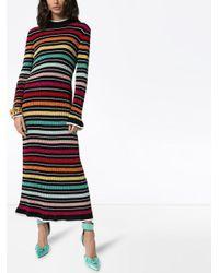 Mary Katrantzou レインボーボーダー ニットドレス Multicolor