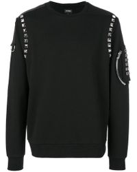 Les Hommes | Black Studded Sweatshirt for Men | Lyst