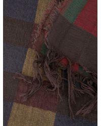 Uma Wang チェック スカーフ Multicolor