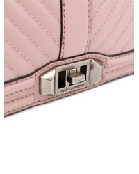 Rebecca Minkoff - Pink Chevron Quilted Love Crossbody - Lyst