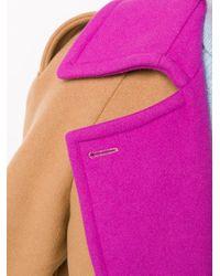 Cappotto doppiopetto di MSGM in Multicolor