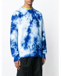Maglione con stampa di MSGM in Blue da Uomo