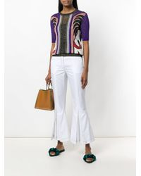 Marco De Vincenzo - White Drill Cropped Trousers - Lyst
