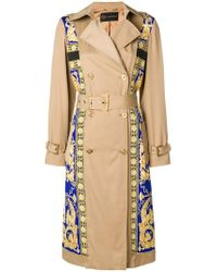 Versace Natural Baroque Trench Coat