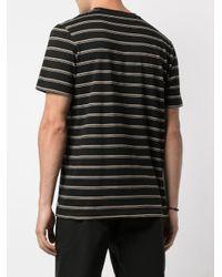 メンズ Folk ストライプ Tシャツ Black