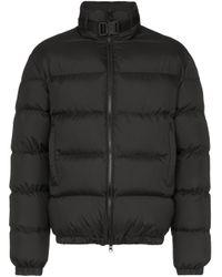 1017 ALYX 9SM Black Buckled Puffer Jacket for men
