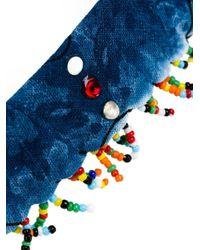 DANNIJO ビーズ装飾 チョーカー Blue