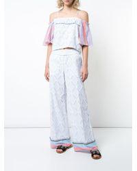 Pantalones Besu anchos Lemlem de color Blue