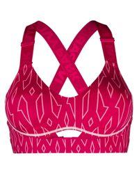Adidas アブストラクトプリント スポーツブラ Pink