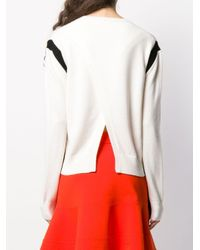 Victoria, Victoria Beckham Multicolor Pullover mit rundem Ausschnitt