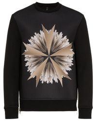 Neil Barrett Black Military Star Sweater for men