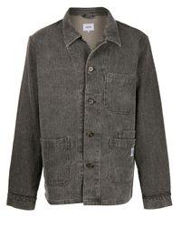 メンズ Nanushka パッチポケット シャツジャケット Gray