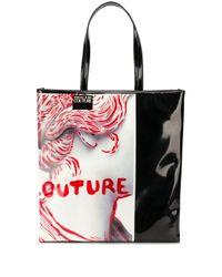 Versace Jeans Black Sculpture-print Shopper Tote