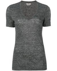 Étoile Isabel Marant | Gray V-neck T-shirt | Lyst