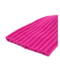 Кашемировая Шапка Бини В Рубчик Laneus, цвет: Pink