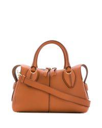 Tod's Brown Kleine 'D-Styling' Handtasche