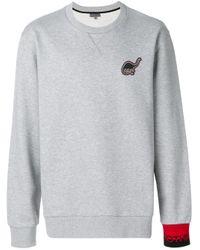 Lanvin Sweatshirt mit Dino-Patch in Gray für Herren