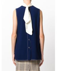 Marni Blue Tie Neck Blouse
