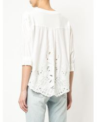 Marc Cain - Blue Embroidered Detail Sweatshirt - Lyst