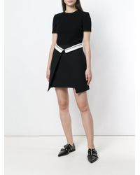 Alexander McQueen Black Flap Panel Dress