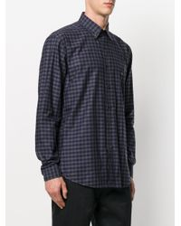 Etro - Blue Checked Button-down Shirt for Men - Lyst