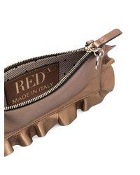 RED Valentino Rock Ruffles ショルダーバッグ Metallic