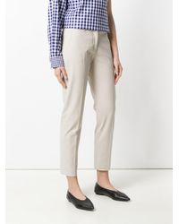 Piazza Sempione Natural High Waisted Trousers