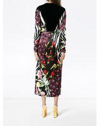 Attico - Multicolor Victoria Patchwork Print Wrap Dress - Lyst