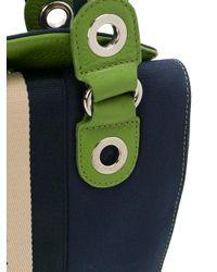 John Galliano - Blue Logo Print Mini Bag - Lyst