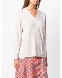 Fabiana Filippi Gray V-neck Jumper