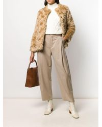Mackintosh モヘア ノーカラー ファージャケット Bettyhill Lm-1002f Natural