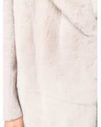 Blancha Natural Belted Fur Coat