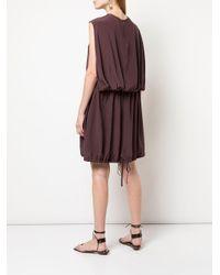 Vestito smanicato con cintura di Tibi in Purple